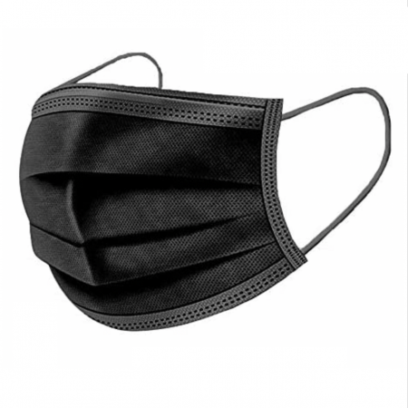 Black Disposable Face Masks - 50